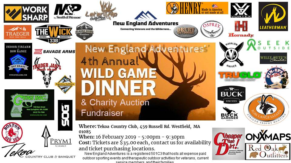 4th Annual Wild Game Dinner Flyer